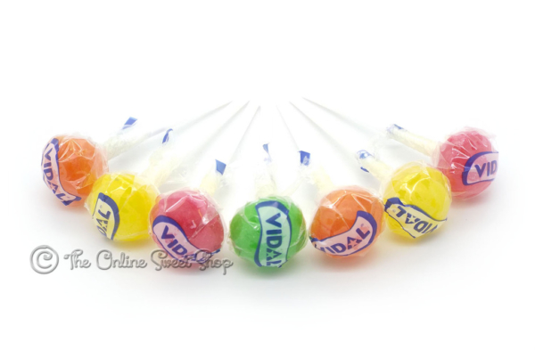Vidal: Lottalollies Assorted Fruit Lollipops-0